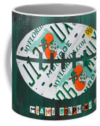 Miami Dolphins Football Recycled License Plate Art Coffee Mug by Design Turnpike
