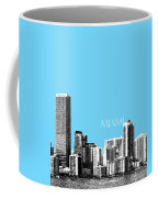 Miami Skyline - Sky Blue Coffee Mug