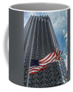 Miami's Financial Center And Old Glory Coffee Mug by Rene Triay Photography
