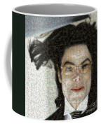 Michael Jackson - Fly Away Hair Mosaic Coffee Mug