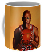 Michael Jordan 2 Coffee Mug by Paul Meijering