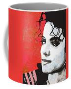 Michael Red And White Coffee Mug