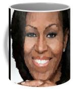 Michelle Obama Coffee Mug by Samuel Majcen