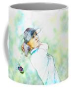 Michelle Wie Hits Her Tee Shot On The Sixth Hole Coffee Mug