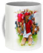 Michelle Wie Of The Usa Solhiem Cup Reacts After Missing A Putt Coffee Mug