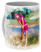 Michelle Wie Plays A Shot On The 6th Hole Coffee Mug