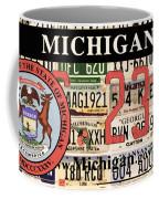 Michigan License Plate Coffee Mug
