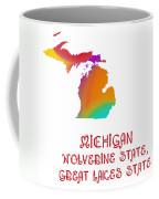 Michigan State Map Collection 2 Coffee Mug