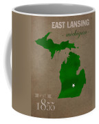 Michigan State University Spartans East Lansing College Town State Map Poster Series No 004 Coffee Mug