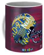 Michigan Wolverines College Football Helmet Vintage License Plate Art Coffee Mug