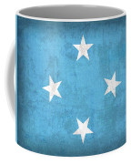 Micronesia Flag Vintage Distressed Finish Coffee Mug