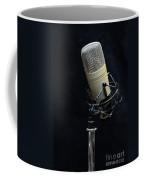 Microphone On Black Coffee Mug