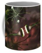 Microscopic Image Of Brain Neurons Coffee Mug