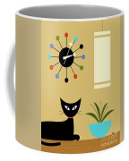 Mid Century Ball Clock 2 Coffee Mug by Donna Mibus