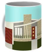 Mid Century Modern House 3 Coffee Mug by Donna Mibus