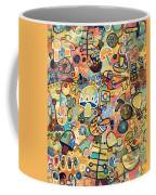 Mid Century Mushroom Madness Coffee Mug