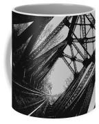 Mid Span  In Black And White Coffee Mug