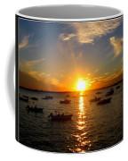 Mid Summer Sunset Over The Island Coffee Mug