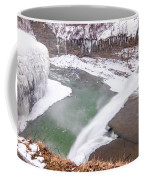 Middle Falls And Ice Feathers Coffee Mug