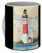 Middle Island Lighthouse Mi Cathy Peek Nautical Chart Art Coffee Mug