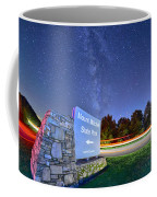 Midnight At Mount Mitchell Entrance Sign Coffee Mug