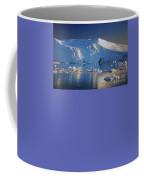 midnight sun with moon in Greenland Coffee Mug