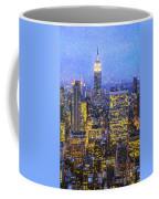 Midtown Manhattan And Empire State Building Coffee Mug