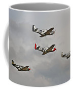 Mighty 8th P51 Mustangs  Coffee Mug by Pat Speirs