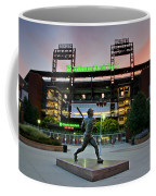 Mike Schmidt Statue At Dawn Coffee Mug by Bill Cannon