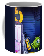 Mike With Boo's Door - Monsters Inc. In Disneyland Paris Coffee Mug