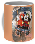 Miki And Kev Moore On Their Way To Portugal Coffee Mug