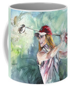 Miki Self Portrait Golfing Coffee Mug