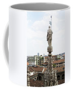 Milan Italy Cityscape And Duomo Spires Coffee Mug