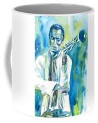 Miles Davis Watercolor Portrait.3 Coffee Mug