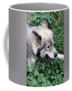 Miley The Husky With Blue And Brown Eyes - Impressionist Artistic Work Coffee Mug