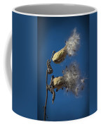 Milkweed Pods On A Blue Background  Coffee Mug