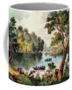 Mill Cove Lake Coffee Mug by Currier and Ives