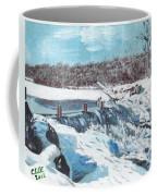 Mill Pond In Winter Coffee Mug