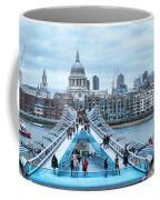 Millenium Bridge And St Pauls Cathedral Coffee Mug