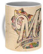 Milwaukee Brewers Poster Art Coffee Mug