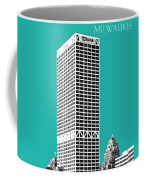 Milwaukee Skyline 1 - Teal Coffee Mug