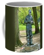 Mime In A Park In Tallinn-estonia Coffee Mug