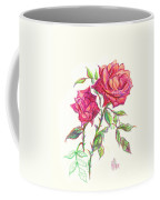 Minature Red Rose Coffee Mug