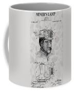 Miner's Lamp Patent Coffee Mug