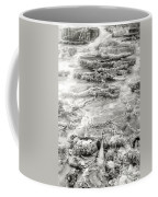 Minerva Springs In Black And White Yellowstone National Park Wyoming Coffee Mug