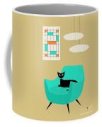 Mini Abstract With Aqua Chair Coffee Mug