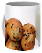 Mini Chocolate Chip Muffins And Milk - Bakery - Snack - Dairy - 1 Coffee Mug