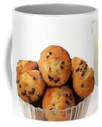 Mini Chocolate Chip Muffins And Milk - Bakery - Snack - Dairy - 3 Coffee Mug