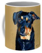 Miniature Pinscher Dog Painting Coffee Mug by Alice Leggett