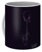 Minimalist Purple Rose Coffee Mug